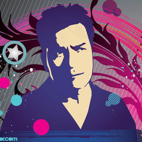 Charlie Sheen Vector Art - Kostenloses vector #215773