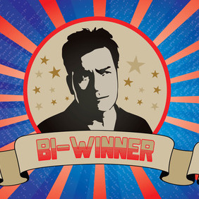 Charlie Sheen Bi-Winning Vector - Free vector #215793