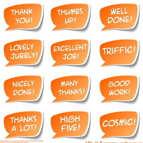 Feel Good Sticker Set - vector gratuit #215853