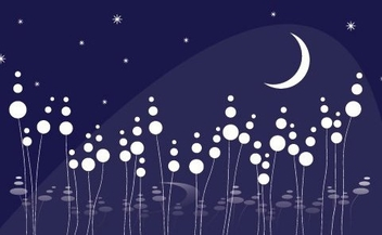 Dreamy Night - vector gratuit #215893