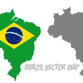Vector Brazil With Flag - Free vector #215923