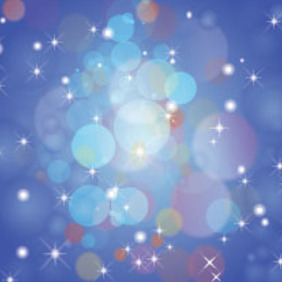 Colored Bubbles In Blue Stars Background - Kostenloses vector #215943