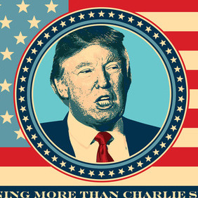 Donald Trump For President - vector gratuit #215963