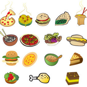 Cartoon Foods - vector gratuit #216083
