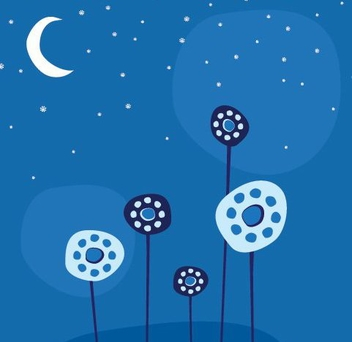 Night Flowers - vector #216113 gratis