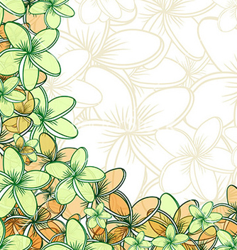 Free background of transparent blend flowers design vector - бесплатный vector #216313