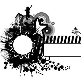 Abstract Vector BW Background - Free vector #216353