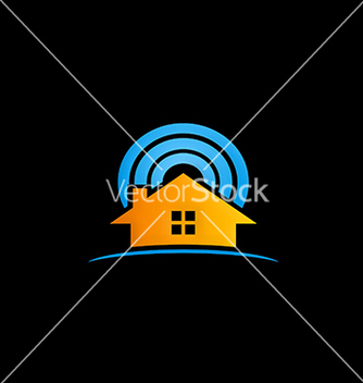 Free house radar security logo vector - vector gratuit #216563