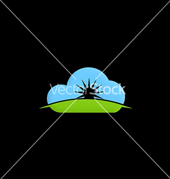 Free cloud shine abstract logo vector - бесплатный vector #216623
