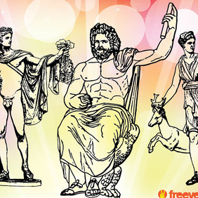Greek Gods - Free vector #216653