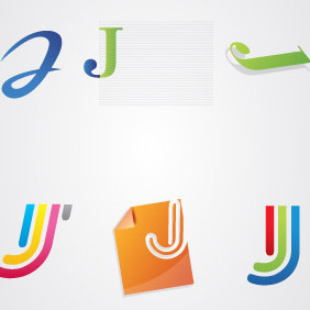Jay Letter Logo Pack - Kostenloses vector #216733