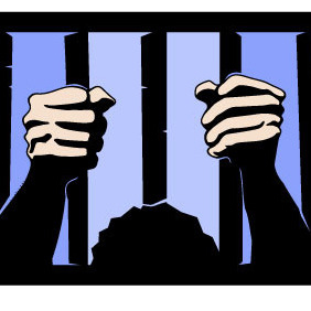 Hands Behind Prison Bars Vector - Free vector #216783