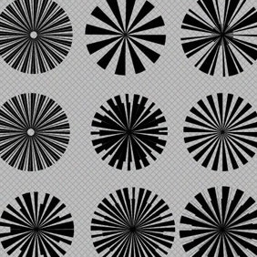 Star Burst Vector And Photoshop Brush Set - Free vector #216813