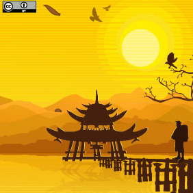 Oriental Background - Free vector #216823