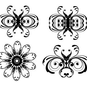 Floral Ornaments Vector Pack 2 - vector #216843 gratis