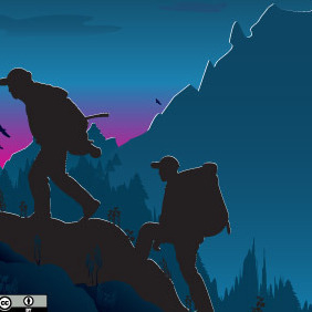 Trekking Travel - Free vector #216923
