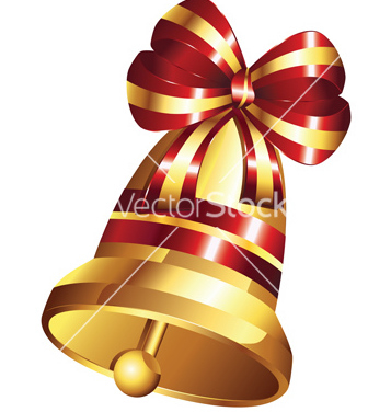 Free golden christmas bell vector - Free vector #216943