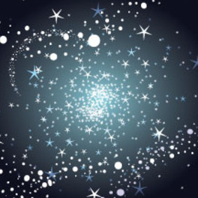 Stars And Bubbles In Dark Background - Free vector #217123