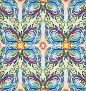 Free colorful seamless pattern abstract flowers vector - бесплатный vector #217193