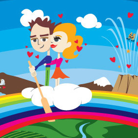 The Magic Of Being In Love - vector gratuit #217223