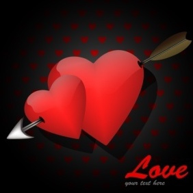 Love Card (for Valentine's Day) - vector #217283 gratis