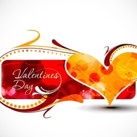 Valentine's Day Greeting Card - vector gratuit #217313