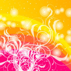 Colored Vector With Swirls Design - vector gratuit #217423