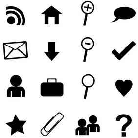 Set Of Web Icons - Kostenloses vector #217603