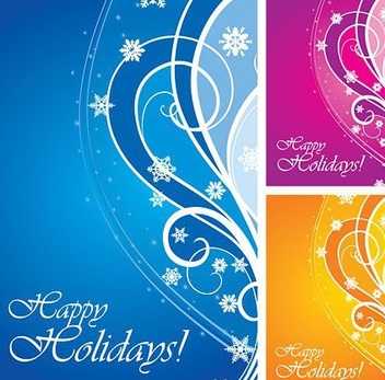 Happy Holidays Card - vector #217733 gratis