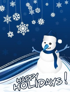 Snowman Greeting Card - Free vector #217803