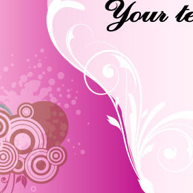 Pink Card Vector Art Background - Free vector #217813
