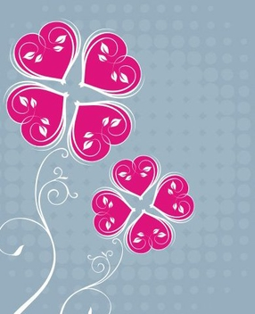 Flower Card - vector #217943 gratis