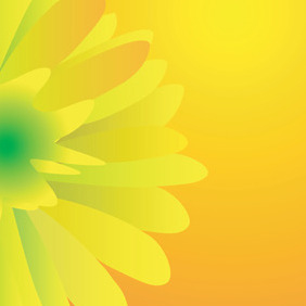 Yellow Vector Flover - Free vector #217963