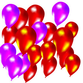 Colorful Vector Baloons - Kostenloses vector #217973