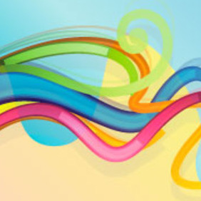 Abstract Blue Line Background Vector Graphique - Kostenloses vector #218063