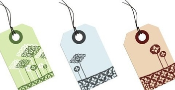 Lace Tags - Free vector #218123