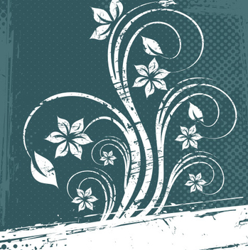 White Flower Frame - vector gratuit #218133