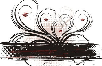 Black and Red Frame - Free vector #218223