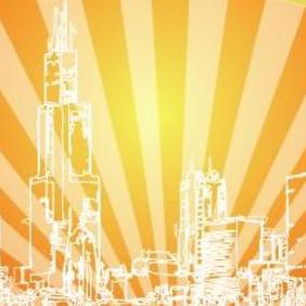 Red Night In City - vector #218263 gratis