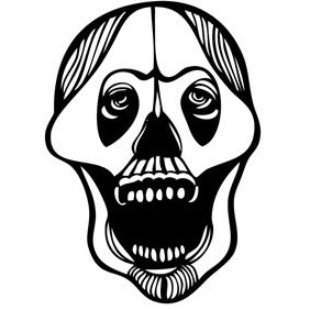 Free Abstract Skull - Kostenloses vector #218323