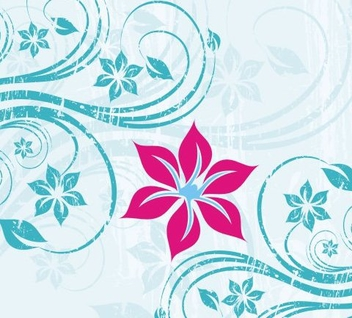 One flower - vector gratuit #218533