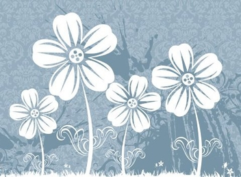 Flower field - vector gratuit #218633