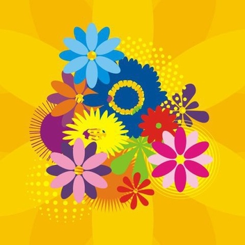 Flower design - vector #218763 gratis