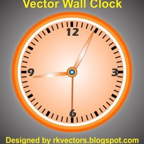 Vector Wall Clock Design - Kostenloses vector #218803