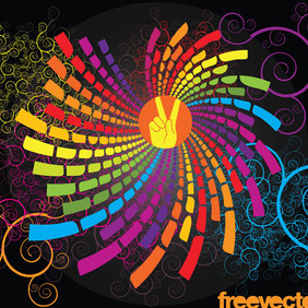 Colorful Scroll Graphics - Free vector #218833
