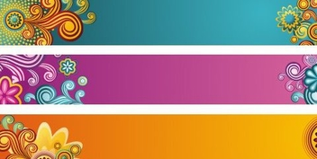 Beautiful Banners - vector #218873 gratis
