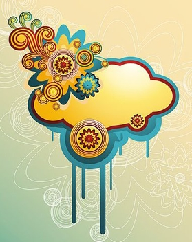 Colorful cloud - vector #218883 gratis