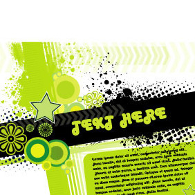 Abstract Grunge With Text Area - vector #218893 gratis
