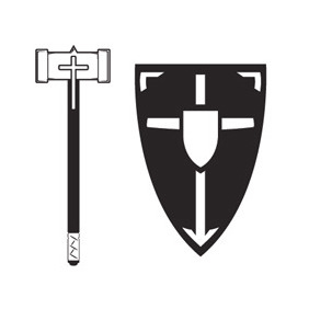 Mace And Shield Vector - Free vector #218933