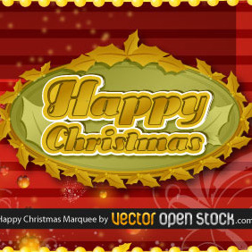 Happy Christmas Frame - Free vector #219143